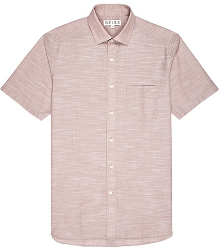 Reiss Brother SHORT SLEEVE SHIRT WITH SINGLE POCKET