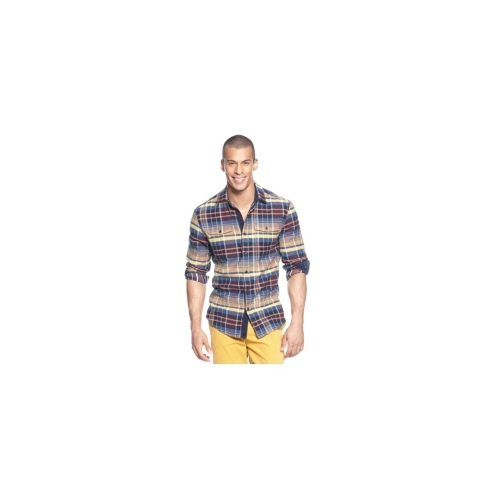 Sean John Shirt, Long Sleeve Oversized Twill Check Shirt