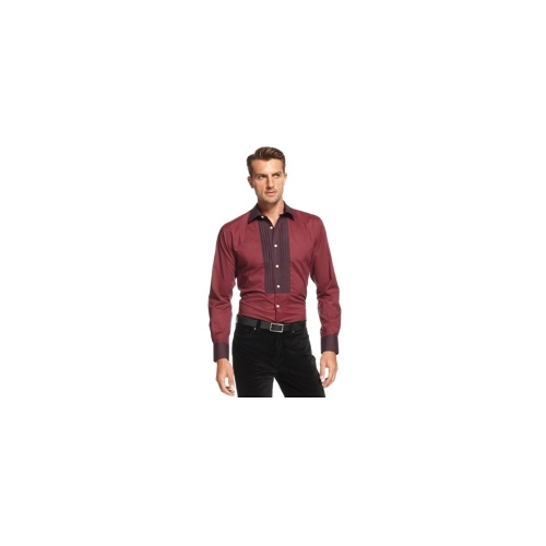Tallia Orange Shirt, Long Sleeve Burgandy Shirt