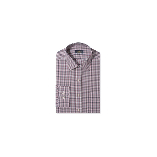 Club Room Dress Shirt, Blue Holiday Check Long-Sleeved Shirt