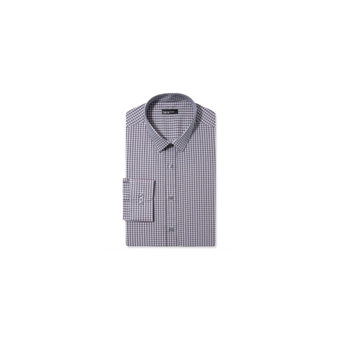 Bar III Dress Shirt, Extra Slim Dusky Merlot Check Long-Sleeved Shirt