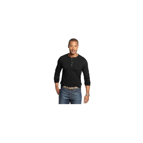 Geoffrey Beene Shirt, Slim-Fit Long-Sleeve Slub Henley Shirt