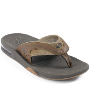 REEF Sandals, Leather Fanning Bottle Opener Thong Men's Shoes
