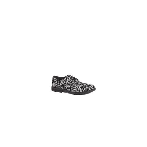 ASOS Derby Shoes With Floral Print - Black