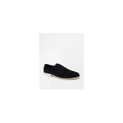 ASOS Derby Shoes in Unlined Suede - Navy