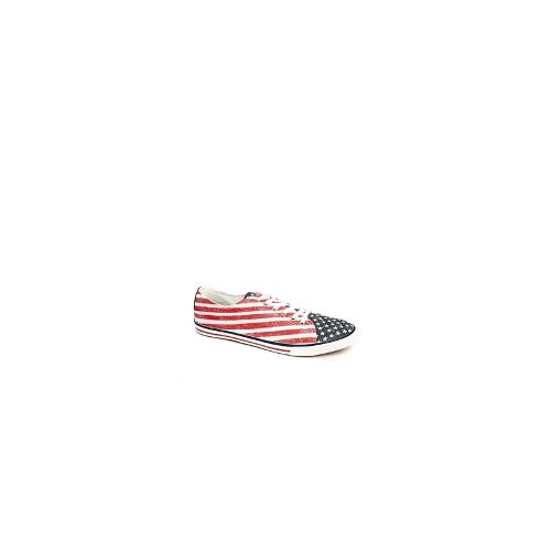 ASOS Plimsolls With Stars and Stripes - Red
