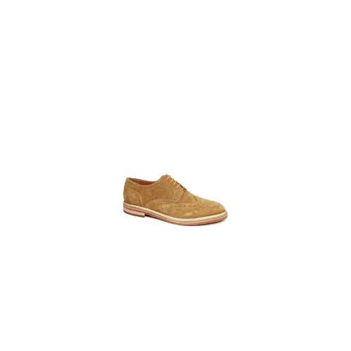 Frank Wright Fry Suede Brogues - Brown