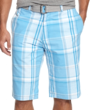 INC International Concepts Shorts, Derby Reversible Belted Shorts