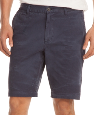 Kenneth Cole New York Shorts, Flat Front Vintage Wash Shorts