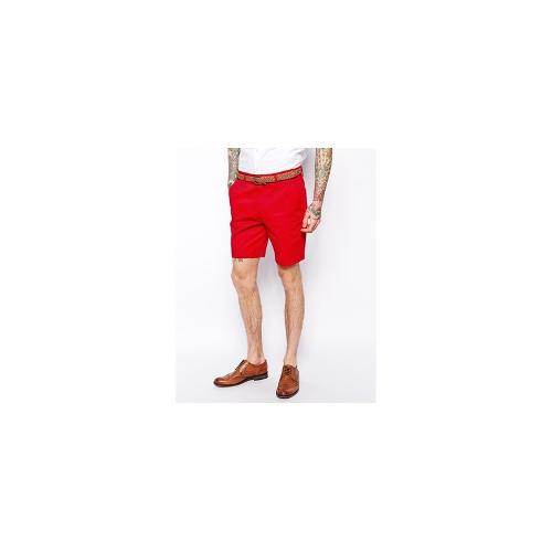 ASOS Slim Fit Shorts In Red