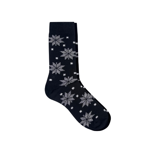 Socks Snowflakes Design