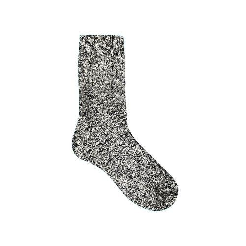 Cropped Boot Socks in Twisted Yarn