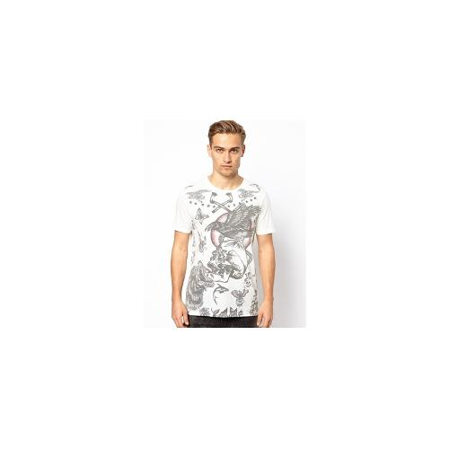 ASOS T-Shirt With Tattoo Skull Print