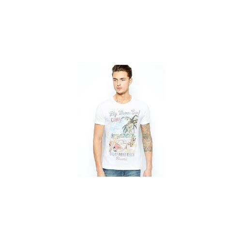 United Colors Of Benetton T-Shirt With Campervan Print - White