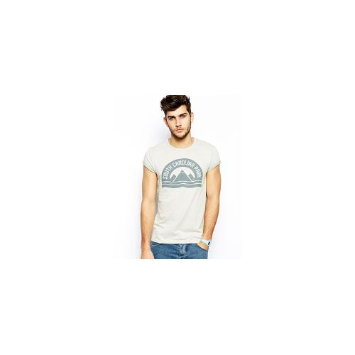ASOS T-Shirt With Print And Rolled Sleeves