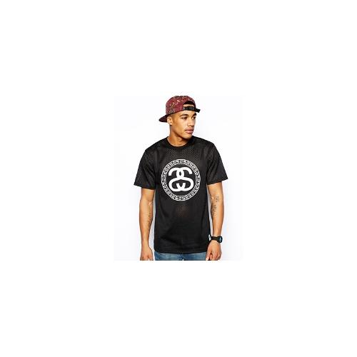 Stussy T-Shirt With Mesh - Black