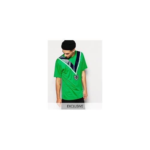 Reclaimed Vintage Green Football T-Shirt - Green