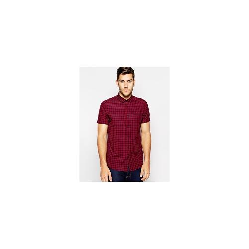 ASOS Smart Shirt In Short Sleeve With Tartan Check