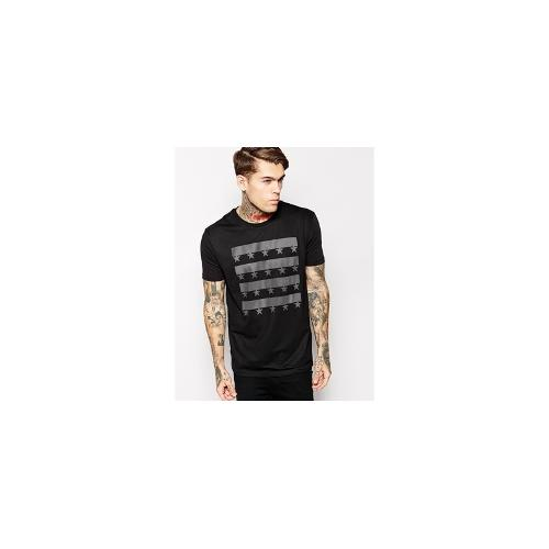 ASOS T-Shirt With Mesh Panel And Printed Underlayer