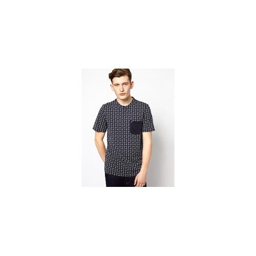 Farah Vintage T-Shirt with Repeat Pattern Print