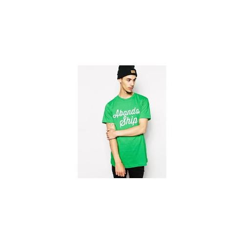 Abandon Ship T-Shirt with Script Logo - Green