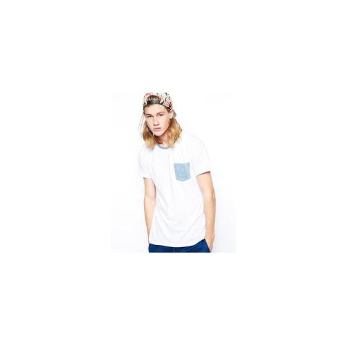 Arvust T-Shirt With Contrast Pocket - White