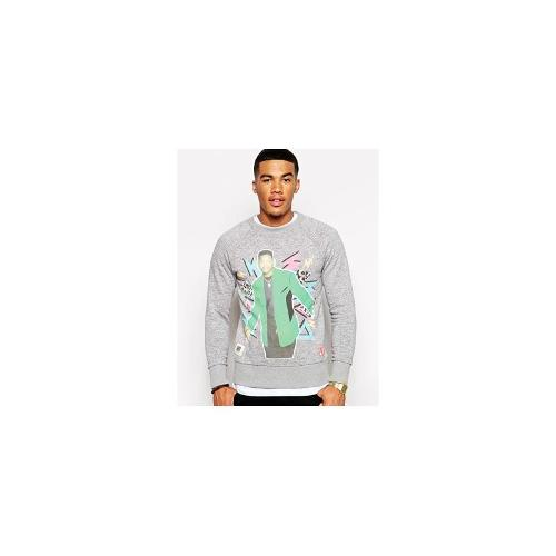 Worn By Fresh Prince Zap Sweatshirt - Grey