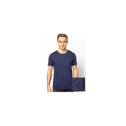 ASOS T-Shirt With Letter Print Sleeves And Pocket