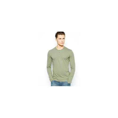 United Colors Of Benetton Long Sleeve Granded Top - Khaki