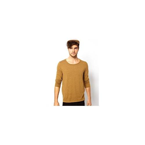 ASOS Long Sleeve T-Shirt With Bound Scoop Neck