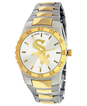 Game Time Watch, Men's Chicago White Sox Two-Tone Stainless Steel Bracelet 42mm MLB-EXE-CWS