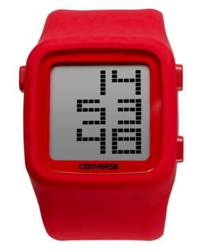 Converse Watch, Unisex Digital Scoreboard Red Silicone Strap 43mm VR002-650