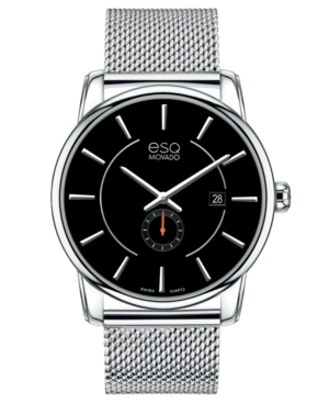ESQ Movado Watch, Men's Swiss Capital Stainless Steel Mesh Bracelet 42mm 7301444