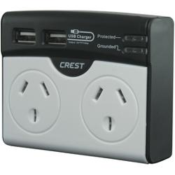 2 Outlet Surge Protector with USB charger