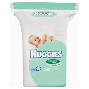 Huggies Fragrance Free Baby Wipes Refill 240 Pack