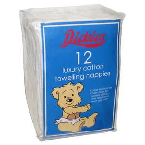 Dickies Nappy Pack - 12 Cotton Nappies