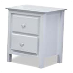 Bay Street - Nicky 2 Drawer Bedside Table in White - Bedside Tables