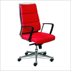 Pago Designs - Executive Zoom Mid Back Chair in Red - Office Chairs