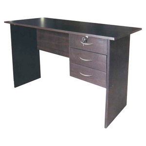 3-Drawer Desk - Chocolate Brown