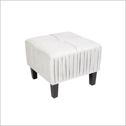 CAFE Lighting - Tilly Ottoman in Grey - Ottomans