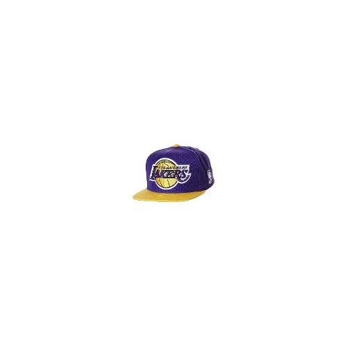Mitchell & Ness Mens Caps - Mitchell & Ness La Lakers Xl Logo 2T Snapback Cap Size One Size