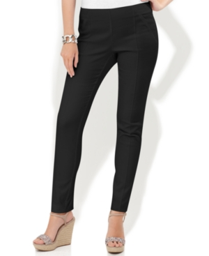 INC International Concepts Pants, Skinny Side-Zip Seamed