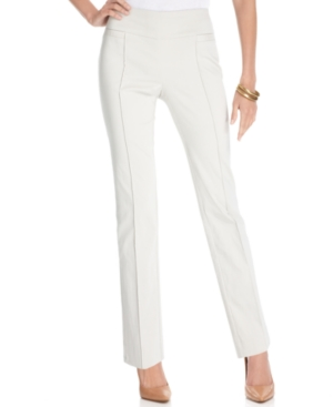 JM Collection Pants, Straight-Leg Pull-On