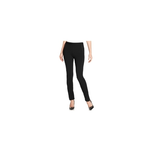 Style&co. Pants, Skinny-Leg Faux-Leather-Trim Pull-On