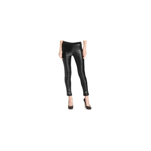 NY Collection Pants, Faux-Leather-Panel Leggings