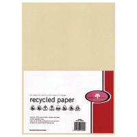 Recycled Paper A4 Sand 110gsm 25 Pack