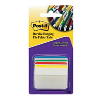 Post-it Durable Hanging File Tabs 686A-1 24 Pack