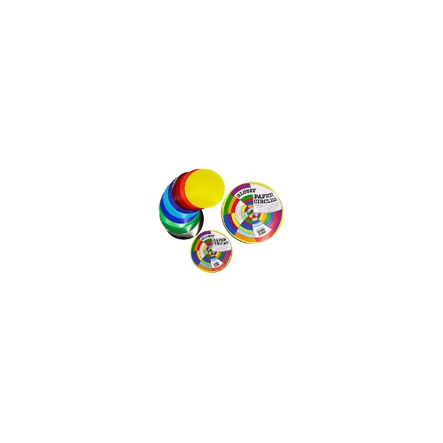 Paper Circles Assorted Colours Gloss 120dia 100 Pack