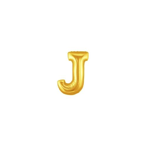 "Balloon - Foil Letter, Uninflated 34"" Gold ""J"""