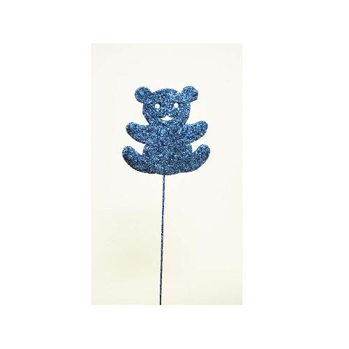 Pick with 3D Teddy Bear - Blue